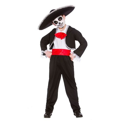 Boys Day Of the Dead Costume for Walking Dead Halloween Zombie Fancy Dress